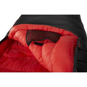 Y by Nordisk V.I.B 600 Sleeping Bag L, negro/rojo